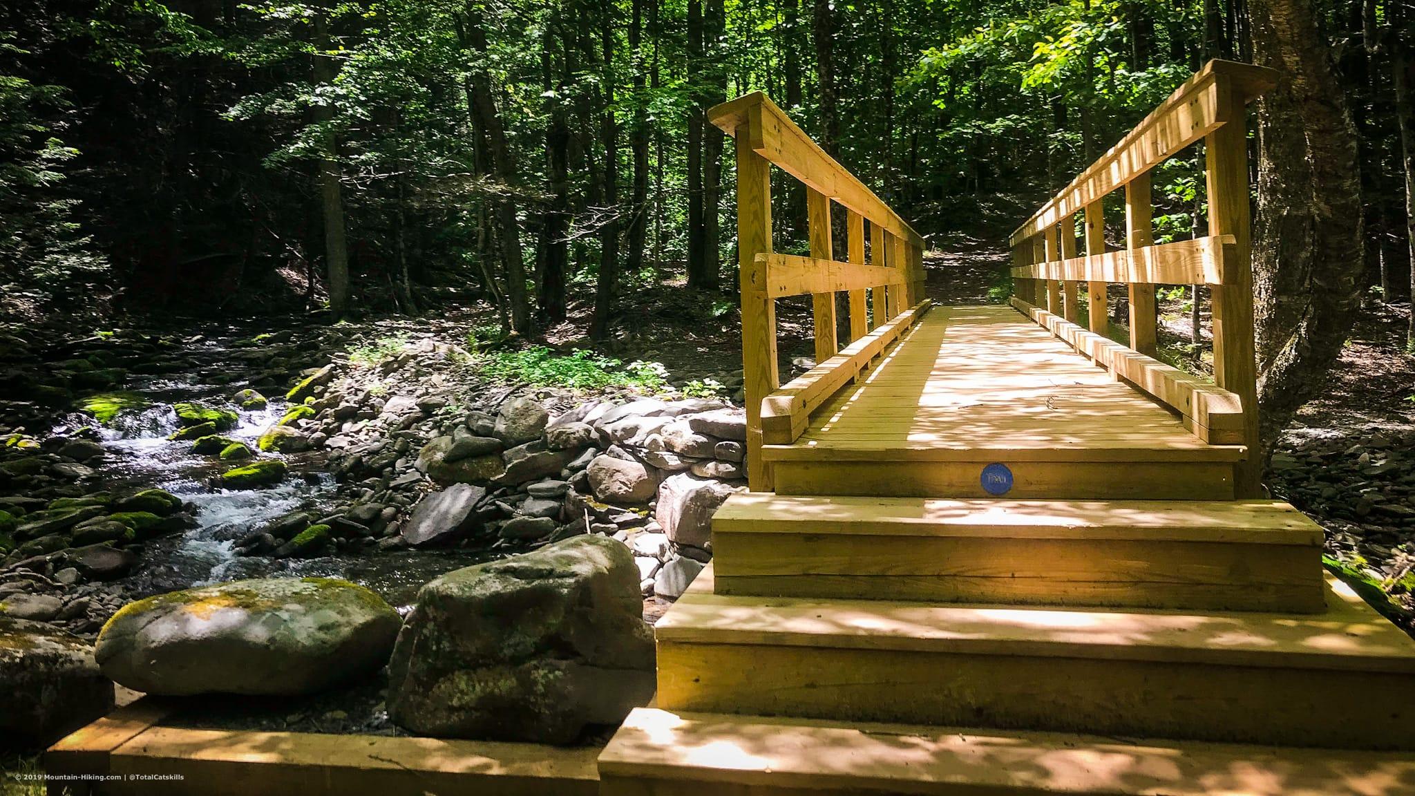 new wooden footbridge catskills