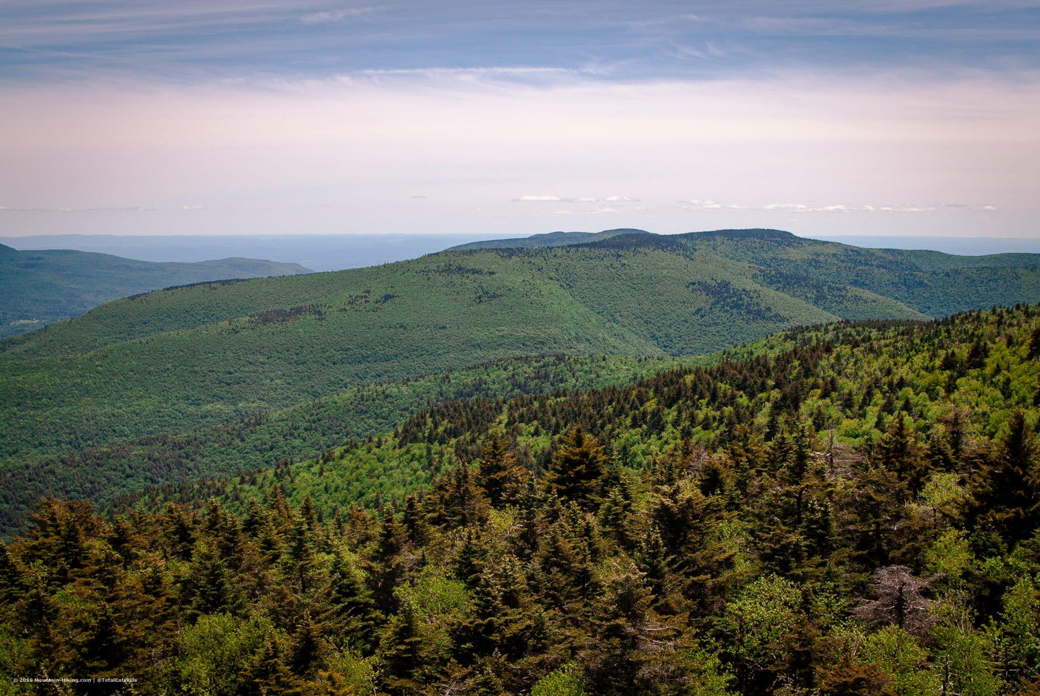 view from catskills fire tower