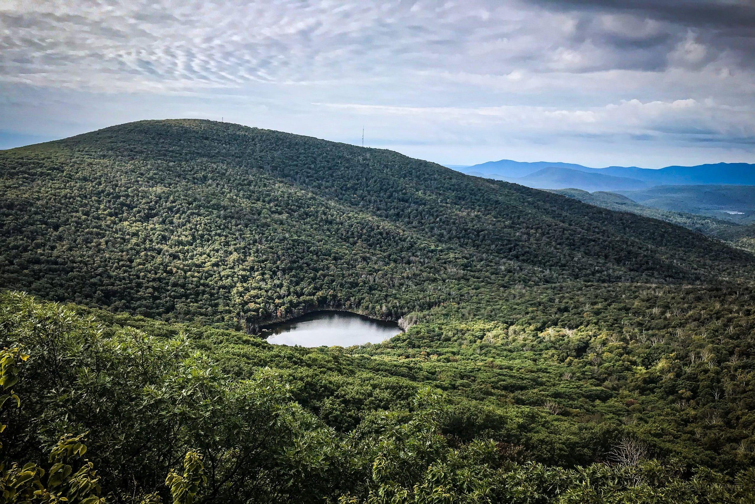 Echo Lake and Overlook Mountain from Plattekill Mountain