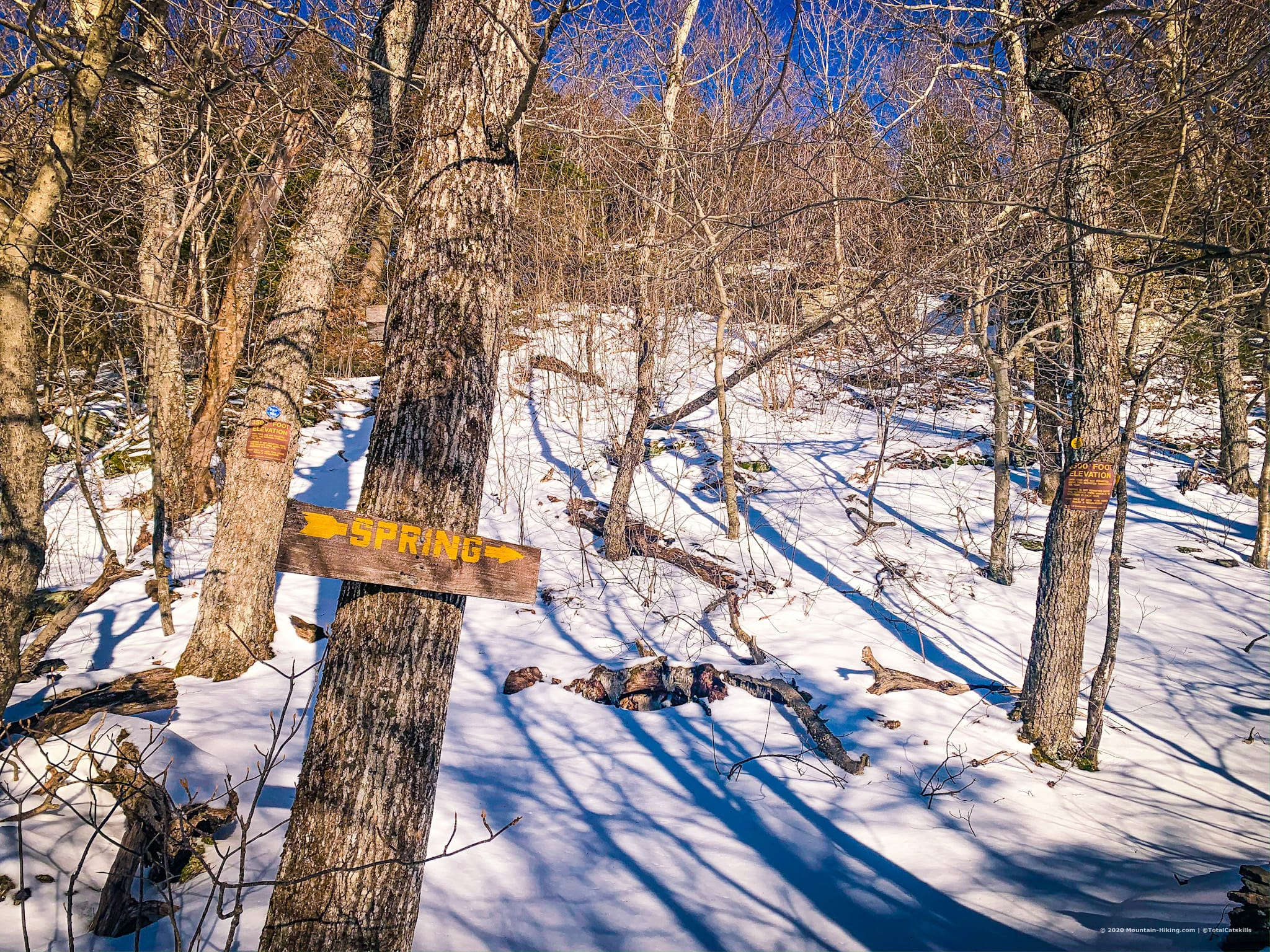 Signposts on Daley Ridge