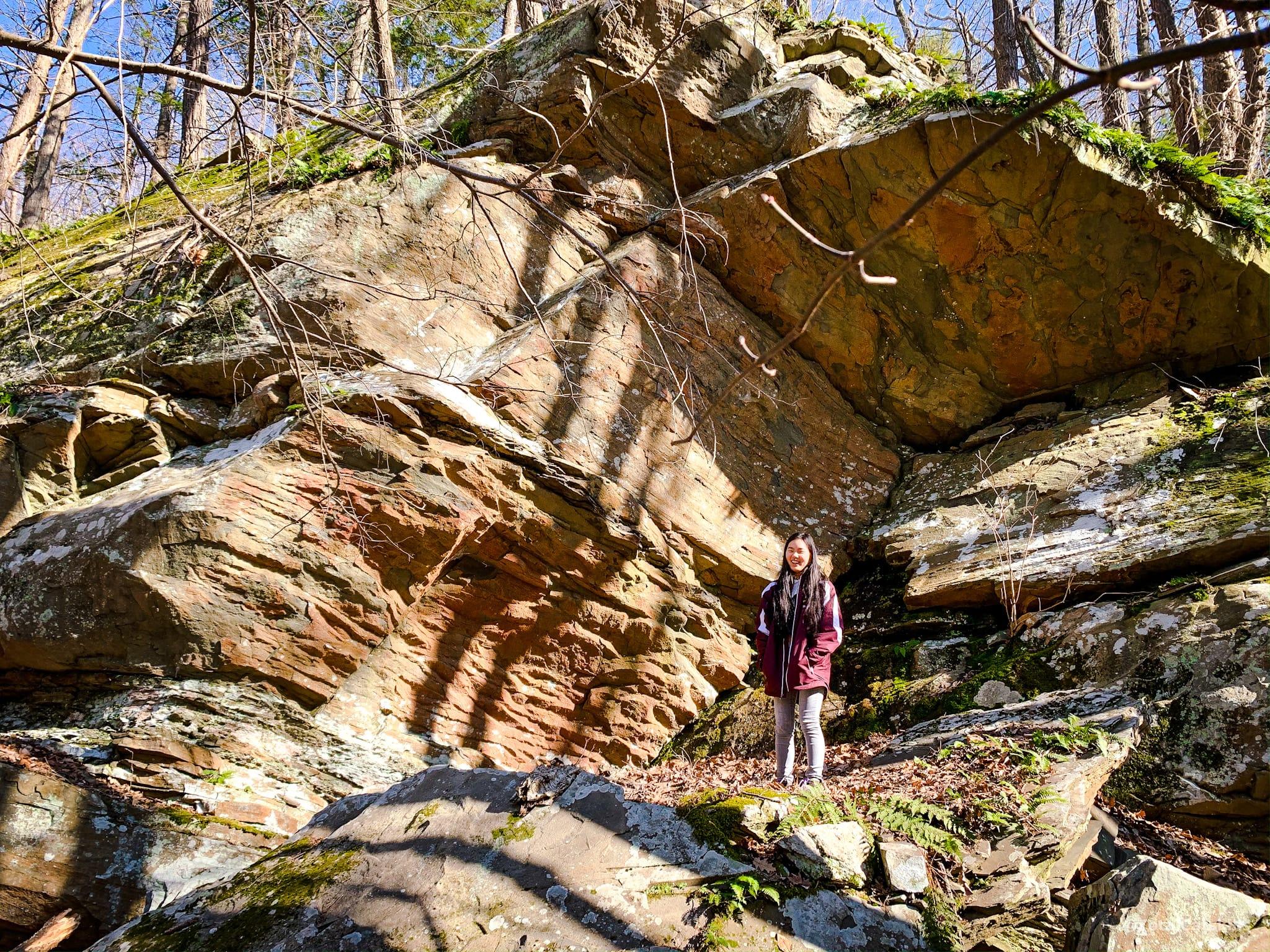 rock exposed