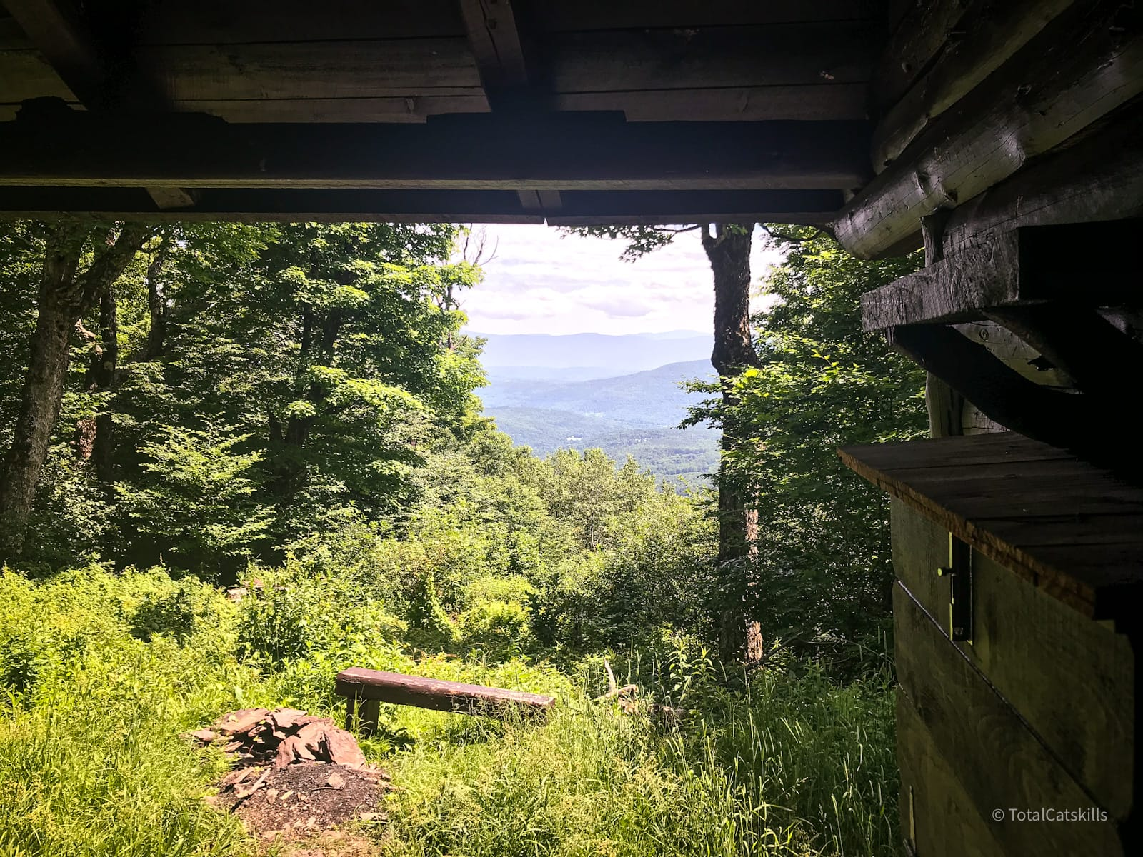lean-to view