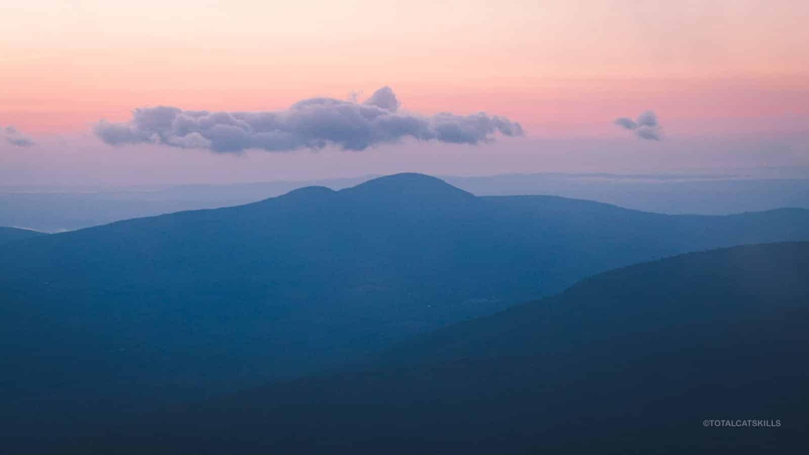 pre-dawn mountains