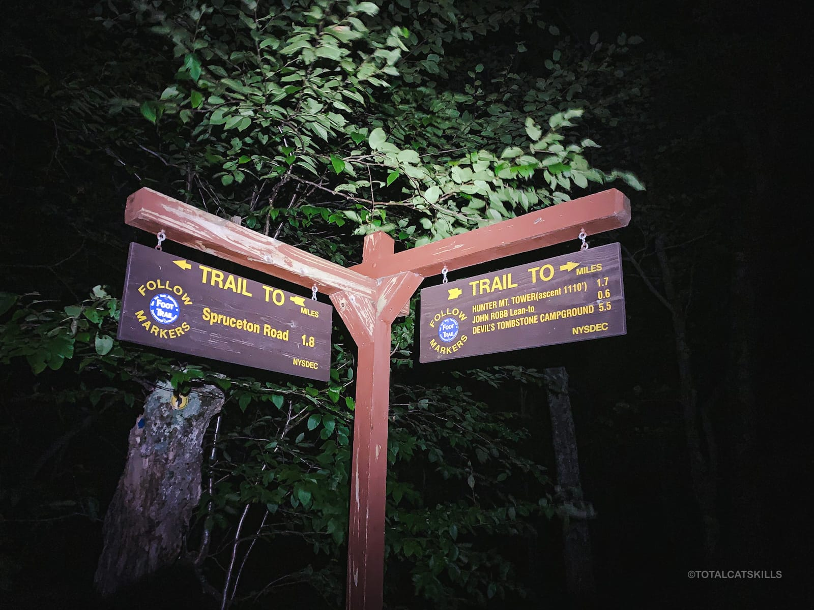 trail junction signpost