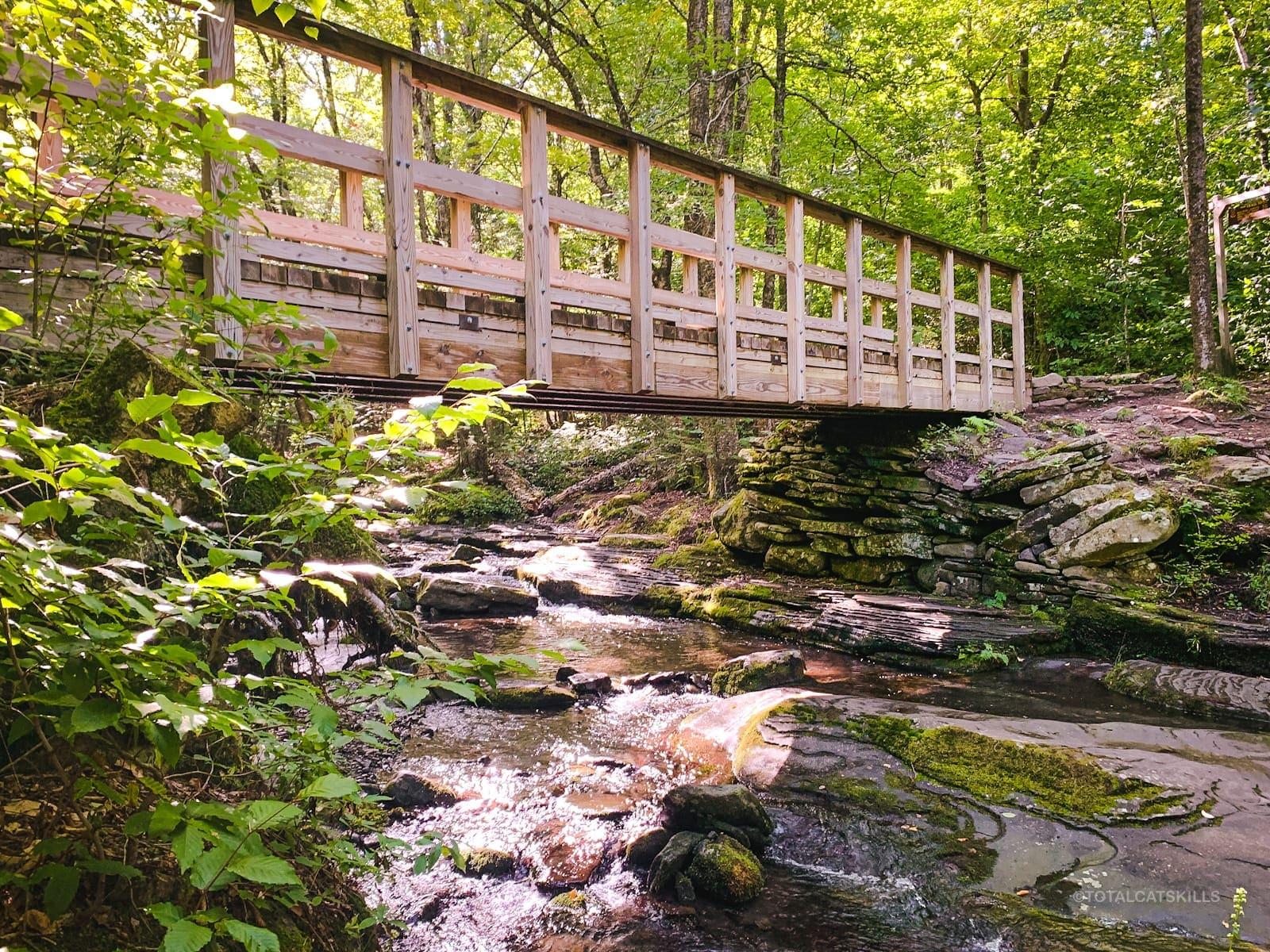 picturesque footbridge