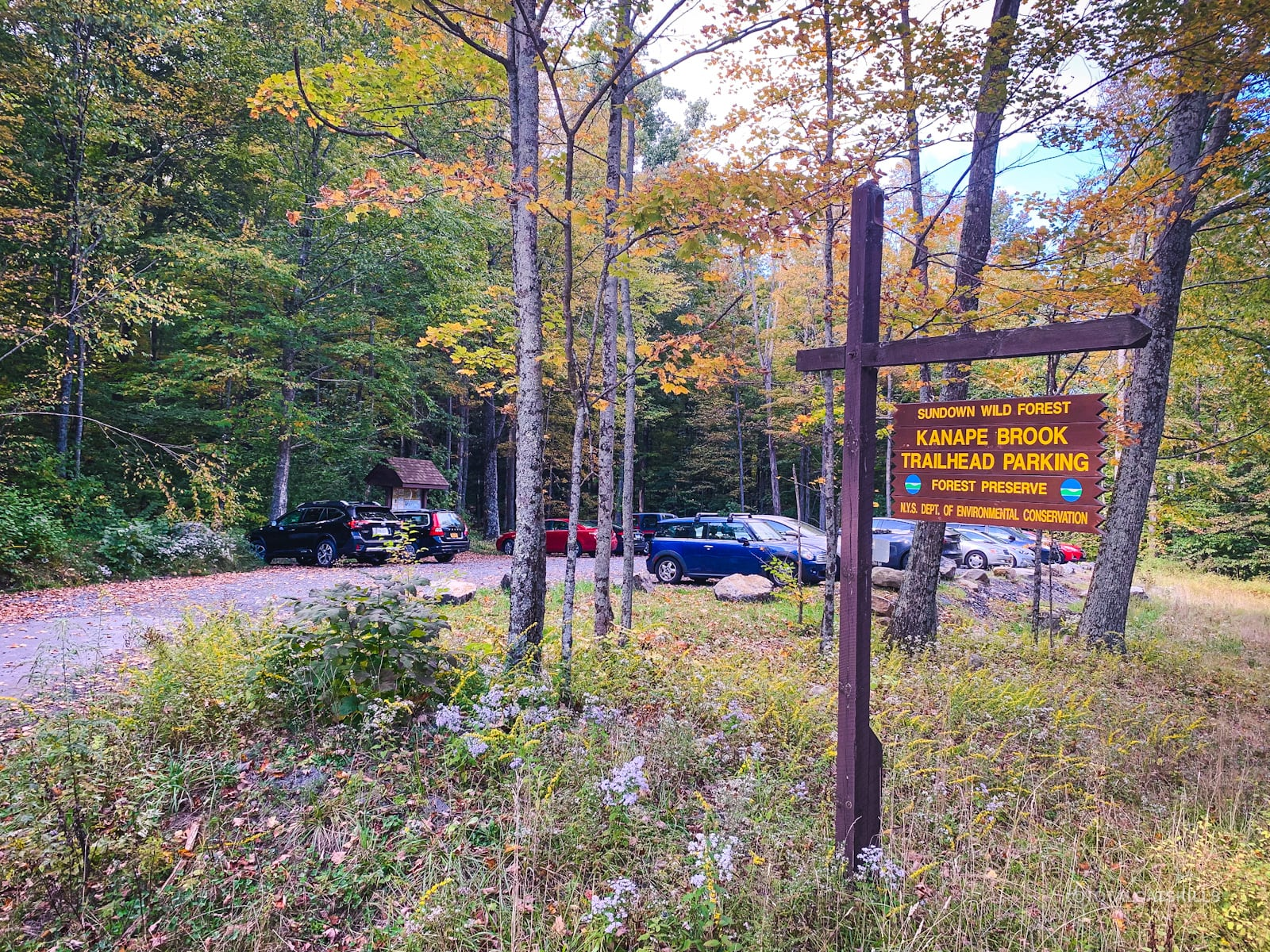 ashokan high point parking area and signage
