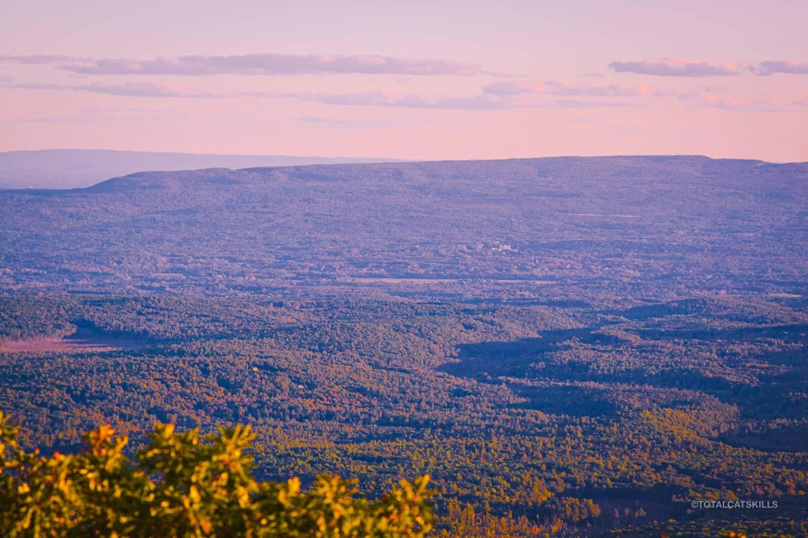 long shot of mountain ridge