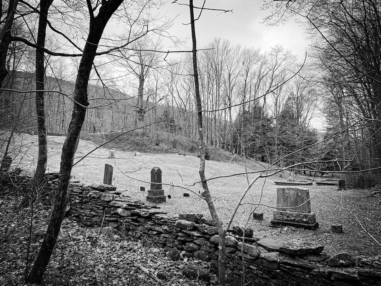 cemetery and headstones