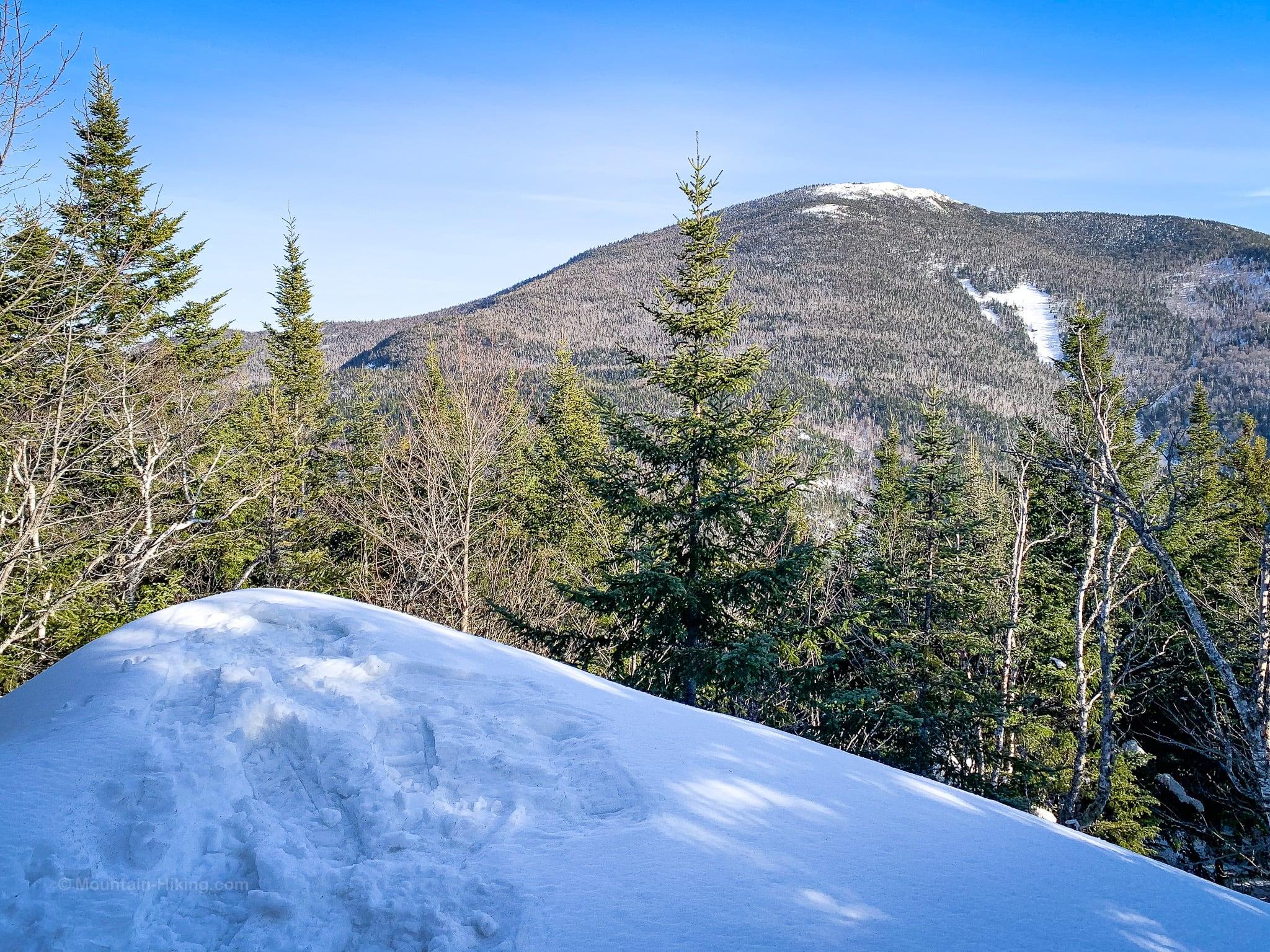 snowy mountain lookout