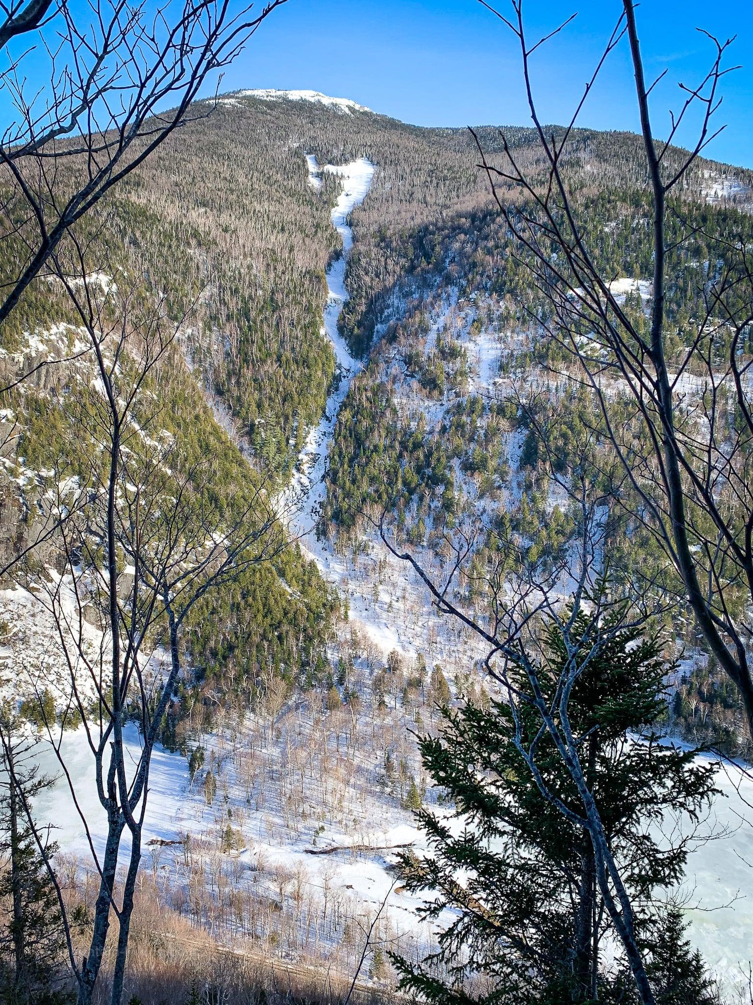 snowy mountain slope