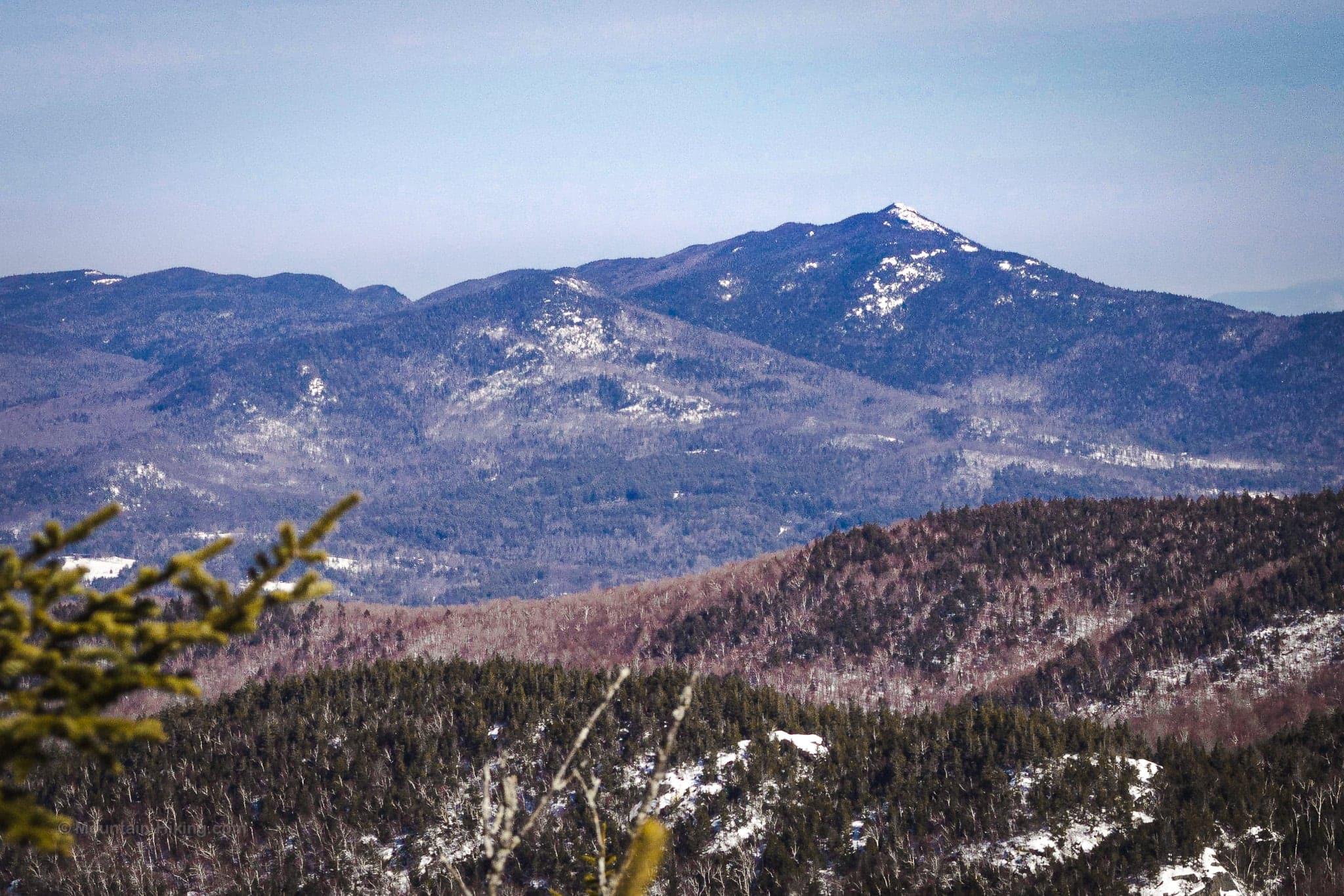 snowy mountain peak in distance